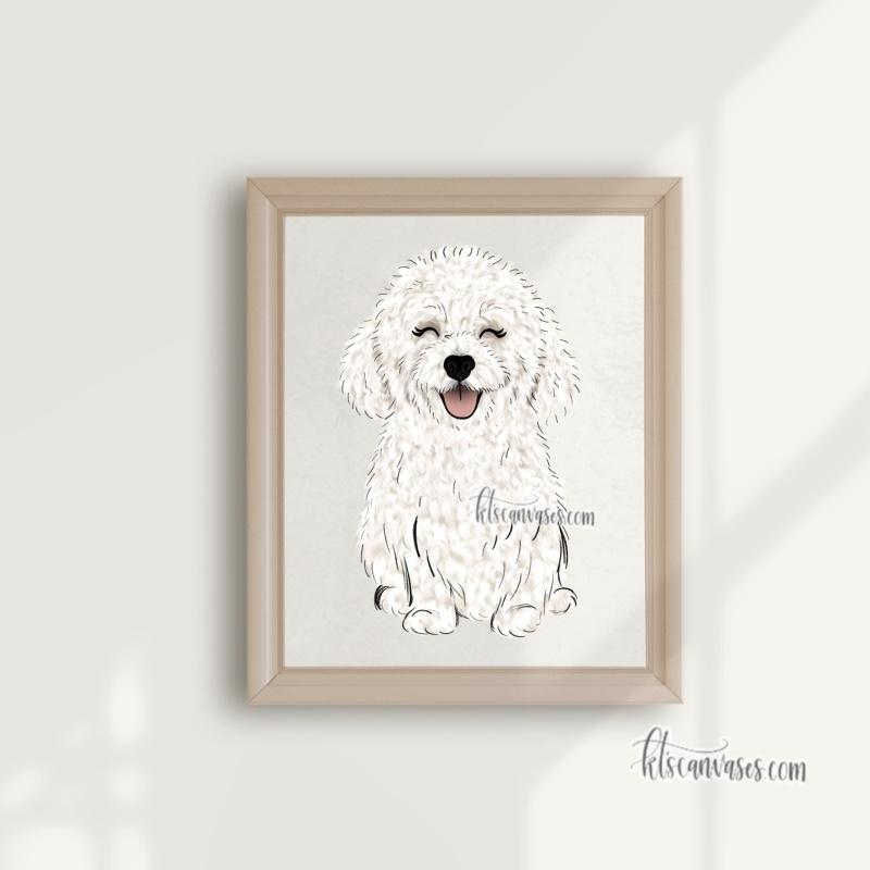Choose Your BICHON FRISE Art Print