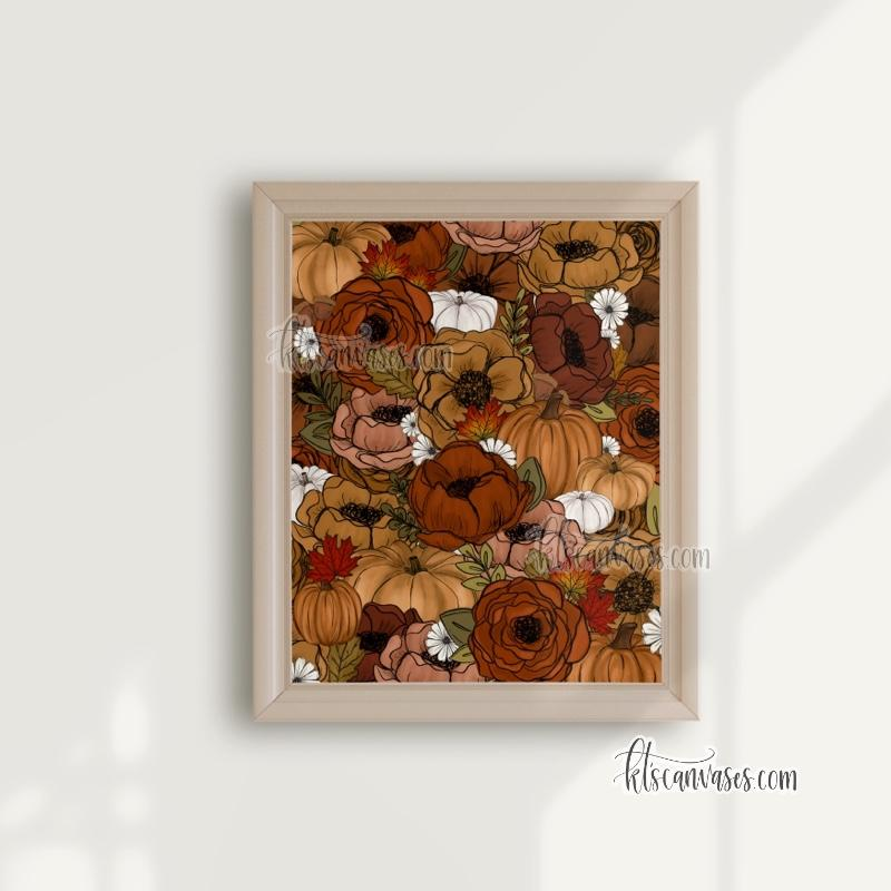 Fall Foliage Florals Art Print