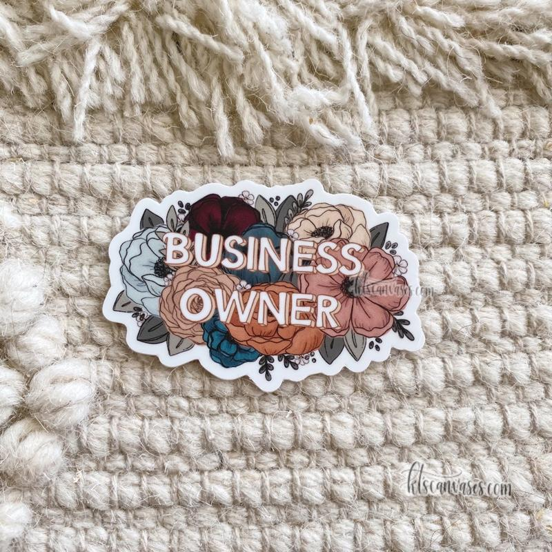 Business Owner Florals Sticker
