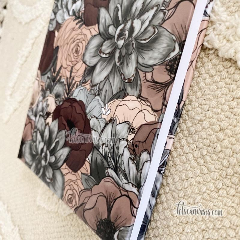 Moody Florals Hardcover LINED Notebook