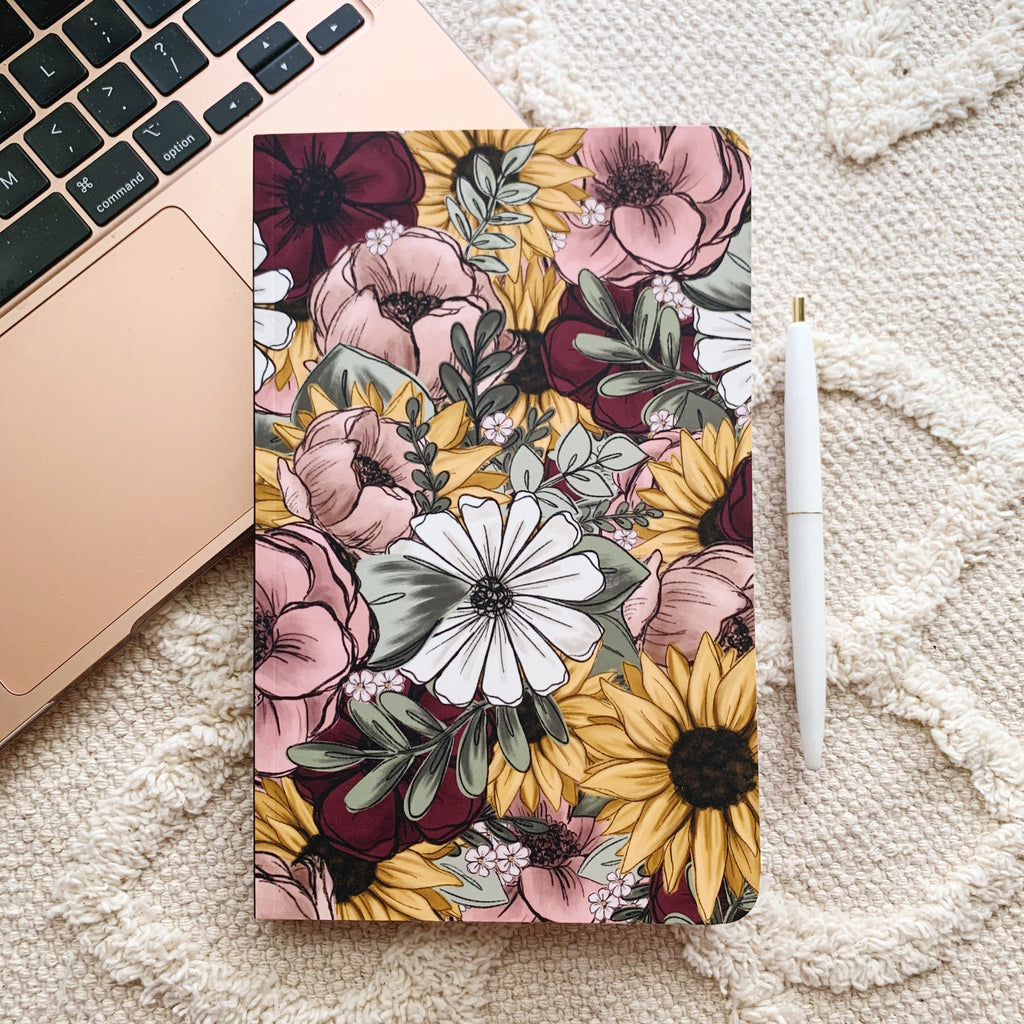 Floral Mix DOT GRID Notebook