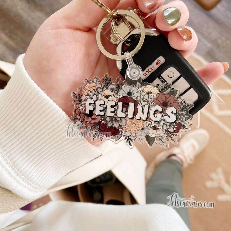 Feelings Keychain 3 in.