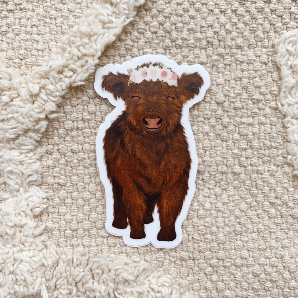 Baby Highland Cow Sticker