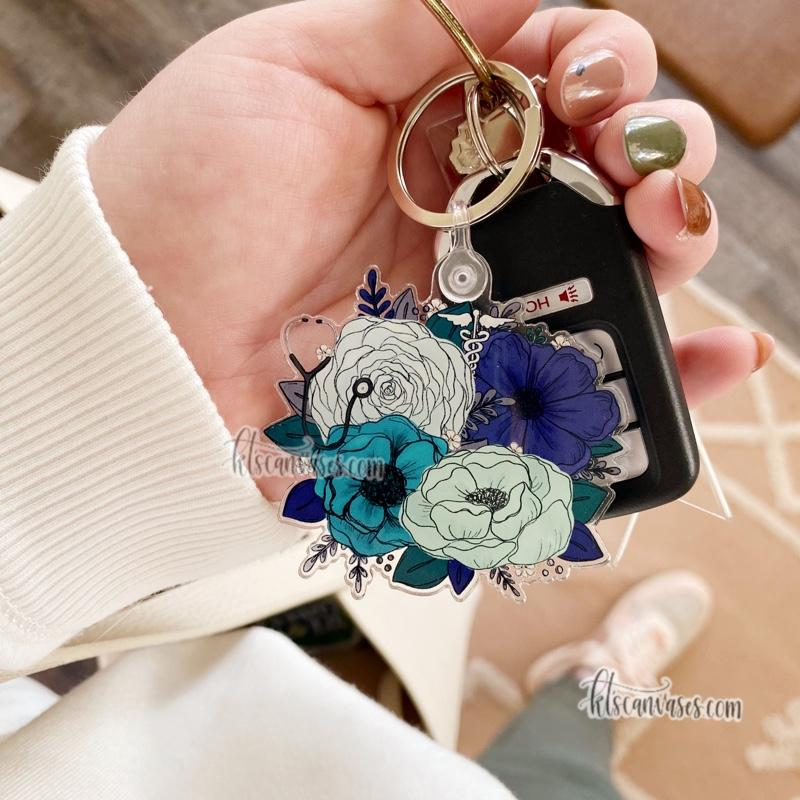 Medical Professional Inspired Keychain 2.5 in.