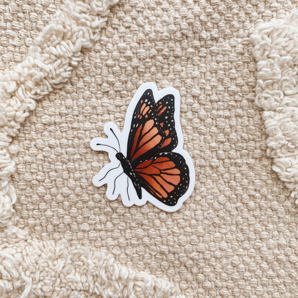 Mini Orange Butterfly #2 Sticker