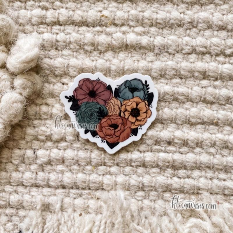 Mini Floral Heart Sticker