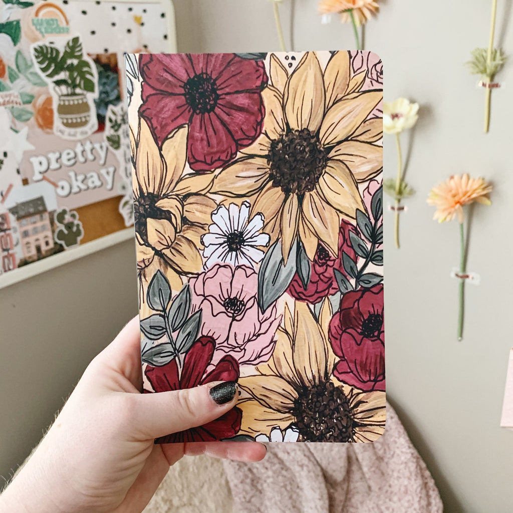 Sunflower Mix Florals LINED Notebook