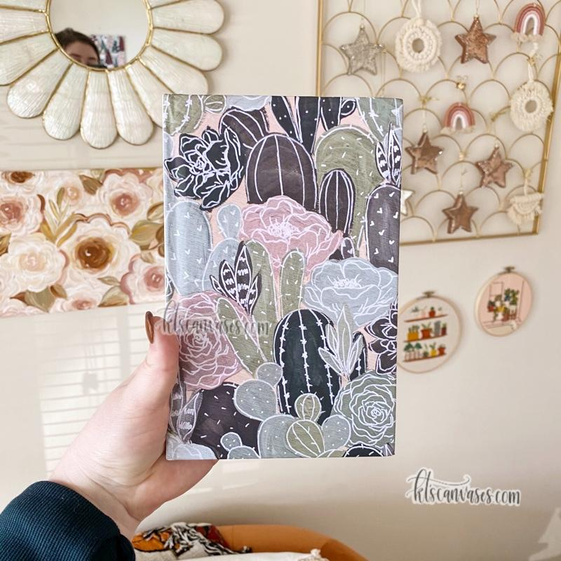 Cactus Florals Hardcover LINED Notebook