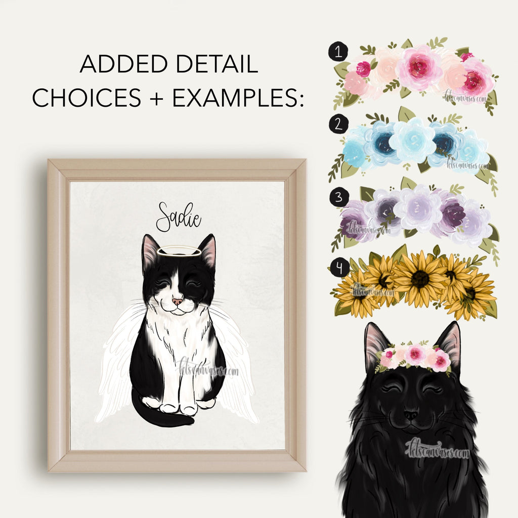 Choose Your BLACK/WHITE CAT Art Print