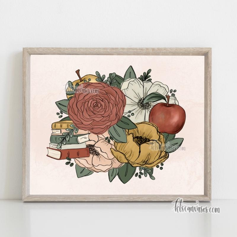 Educator Florals Art Print