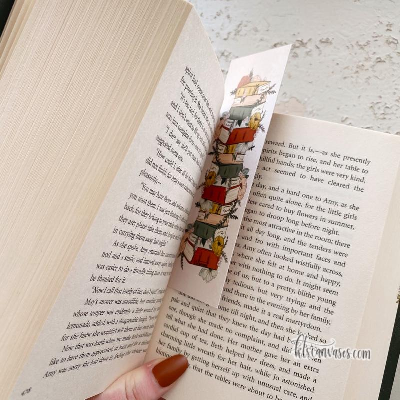 Floral Books Double Sided Bookmark
