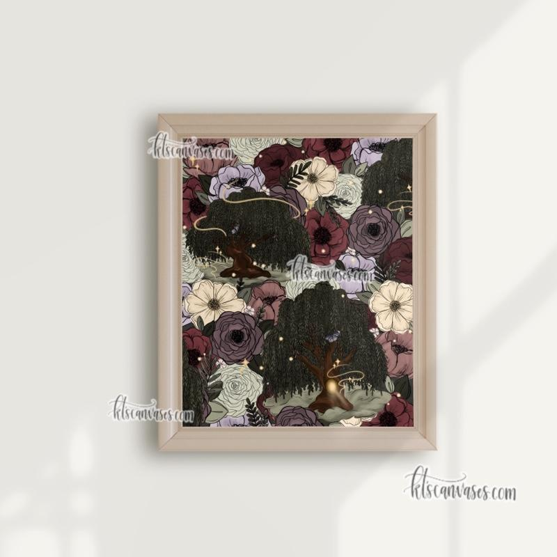 Whimsical Willow Florals Art Print