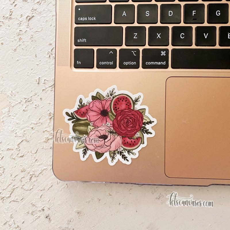 Watermelon Sketched Florals Sticker