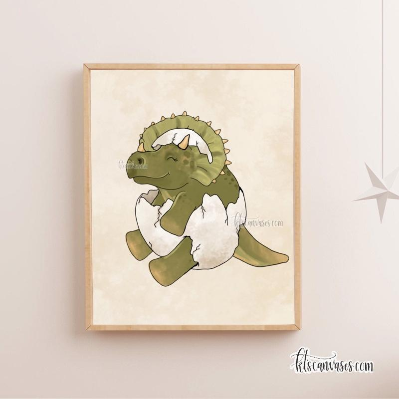 Baby Triceratops Art Print