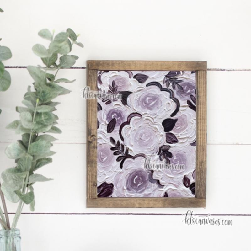 Purple Monochromatic Florals Art Print
