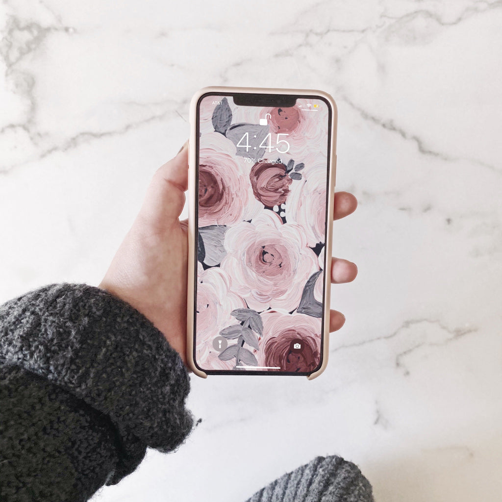 Soft Florals Phone Wallpaper (Digital Download)
