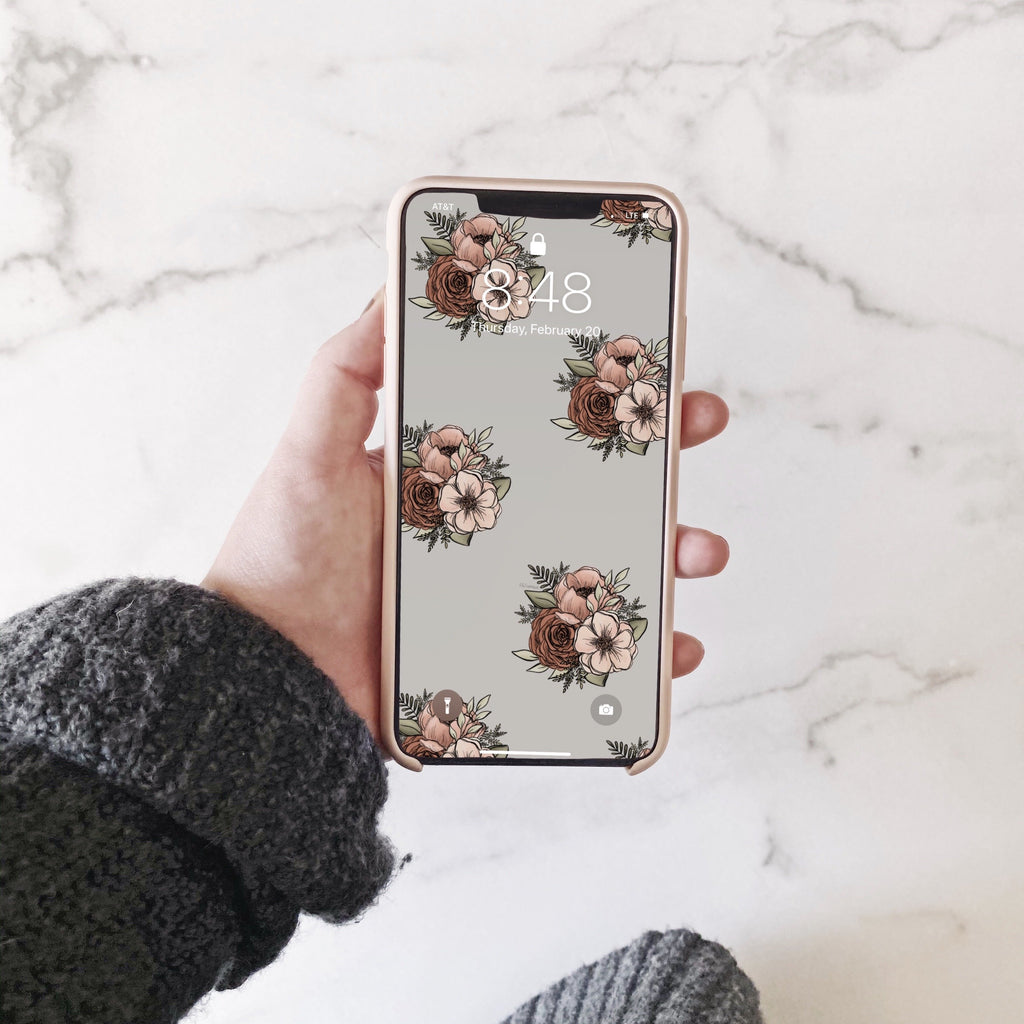 Floral Print Phone Wallpaper (Digital Download)