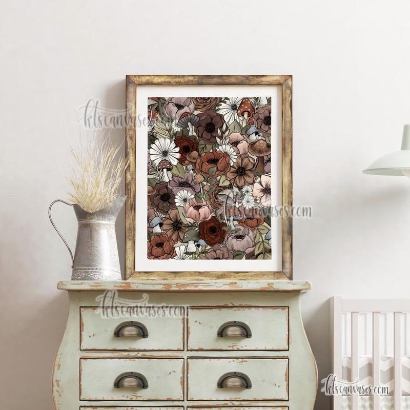 Forest Florals Art Print