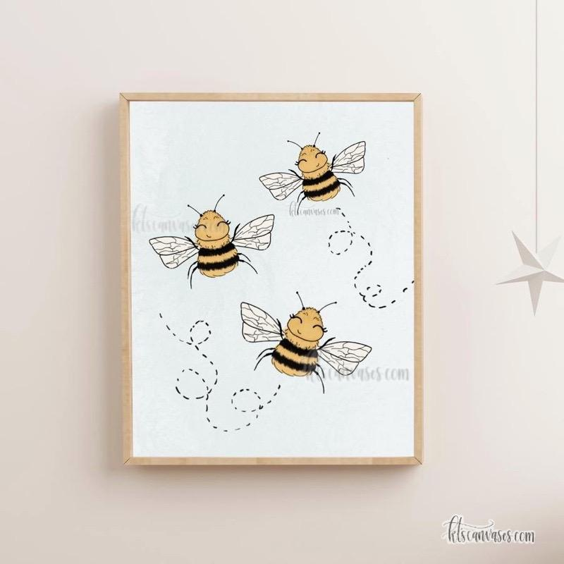 Happiest Bumblebees Art Print