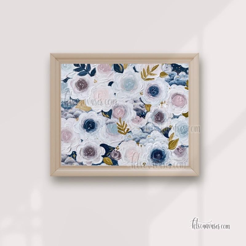 Dreamy Florals Art Print (Horizontal)