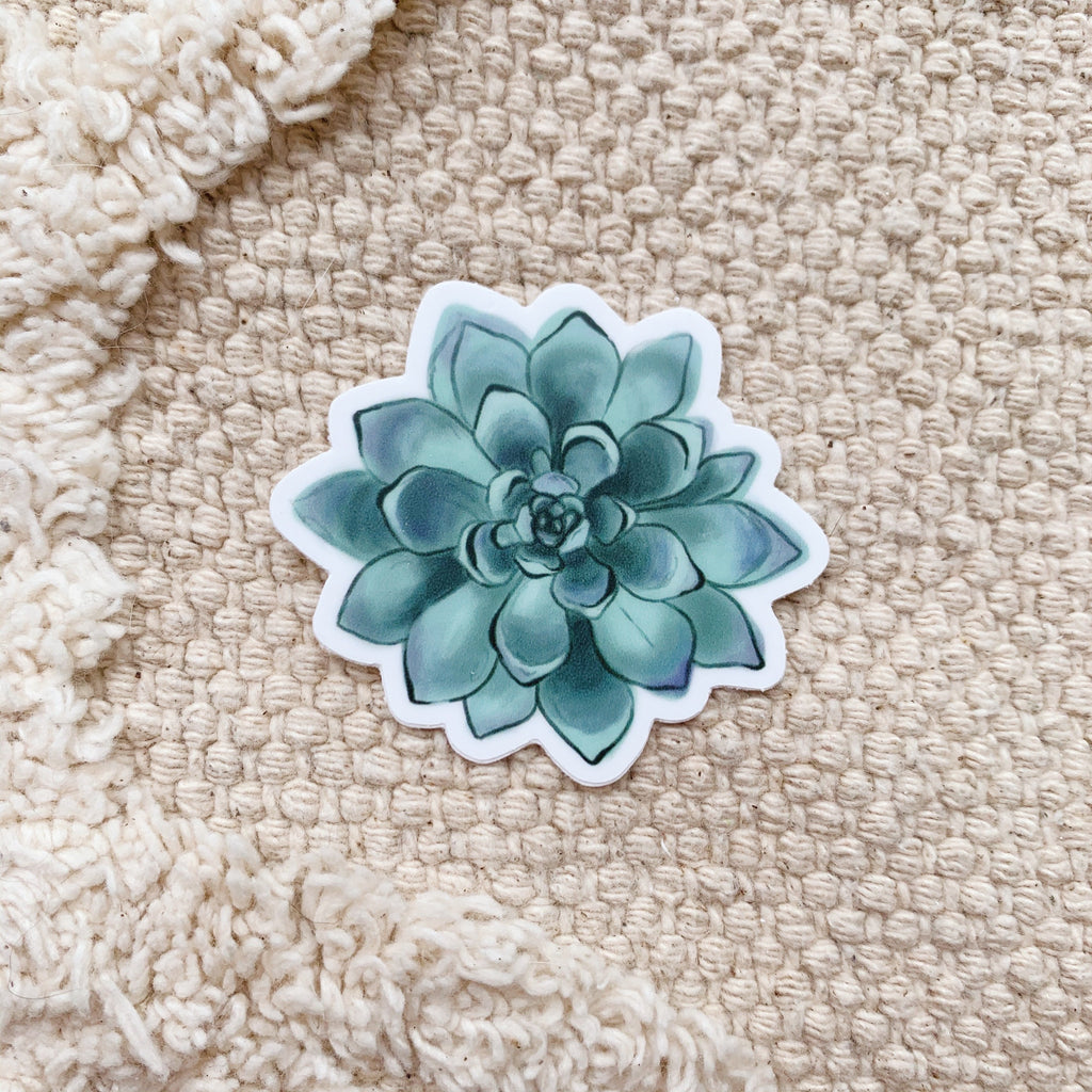 Mini Green Succulent Sticker