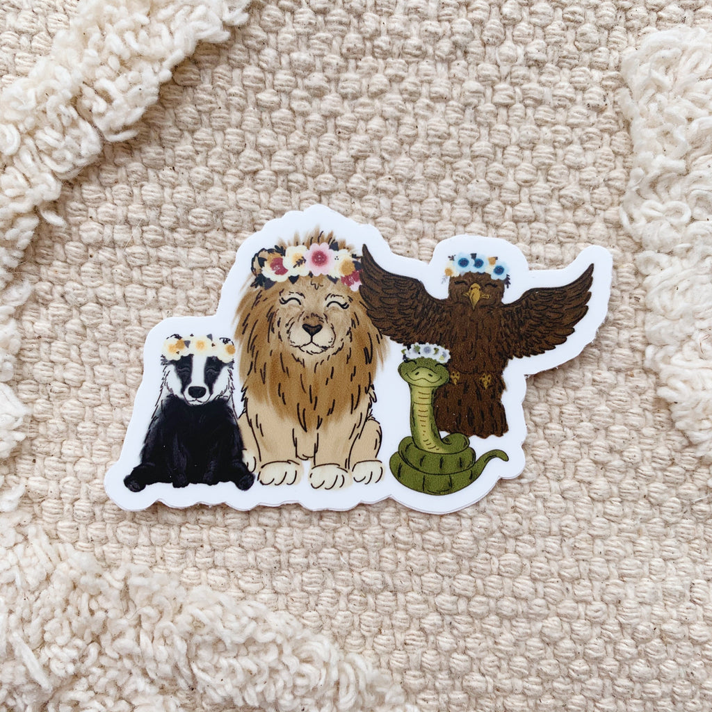Magical House Animals Sticker