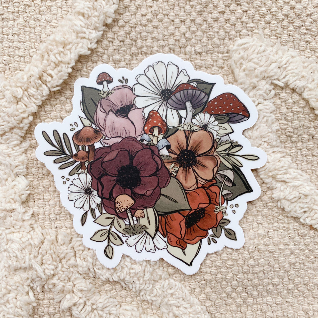 Larger Forest Florals Sticker