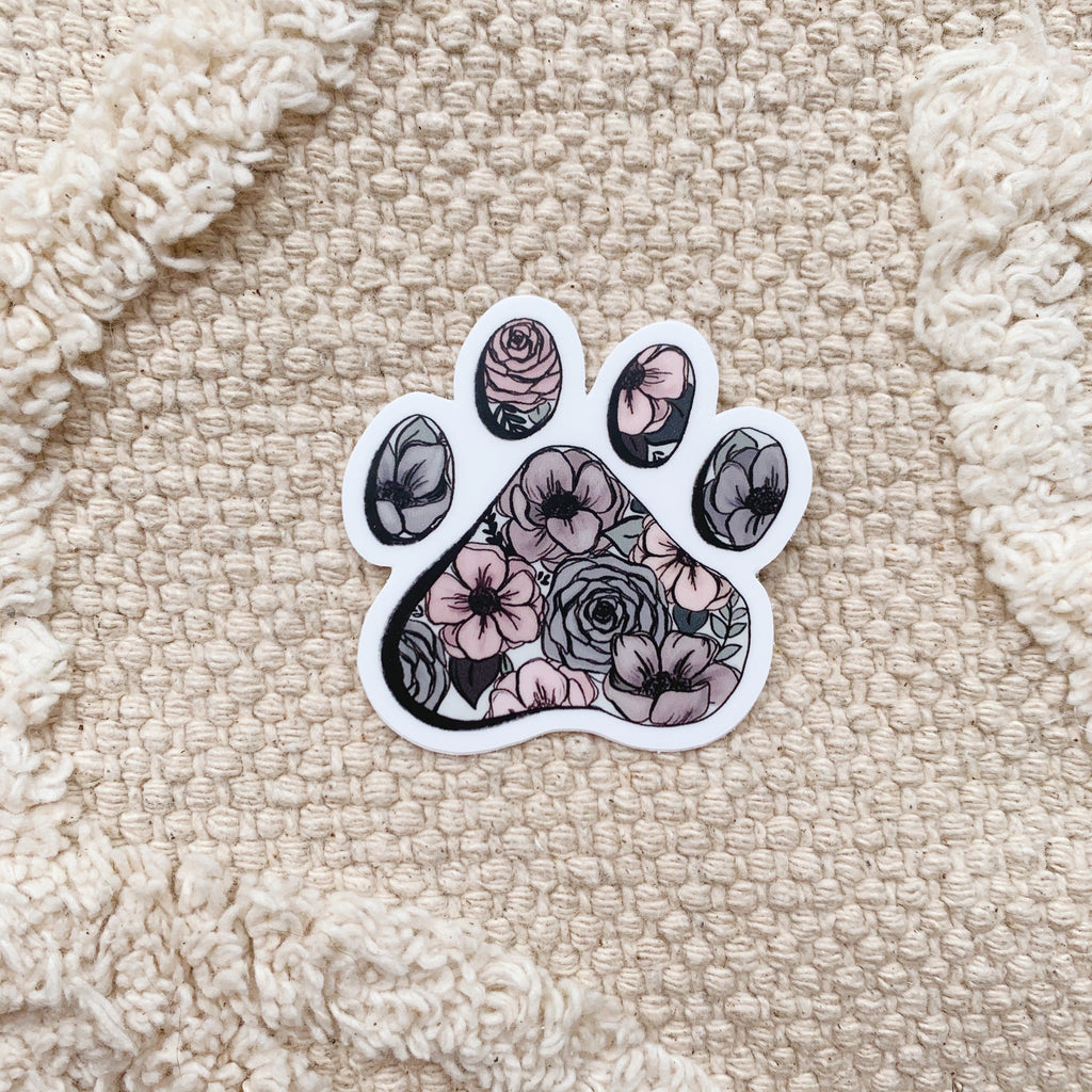 Mini Floral Paw Sticker
