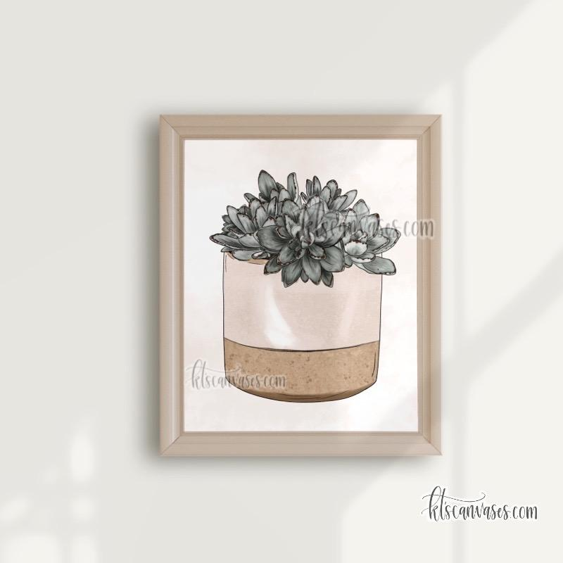 "Panda Plant Art Print (""aspiring plant lady"" option)"