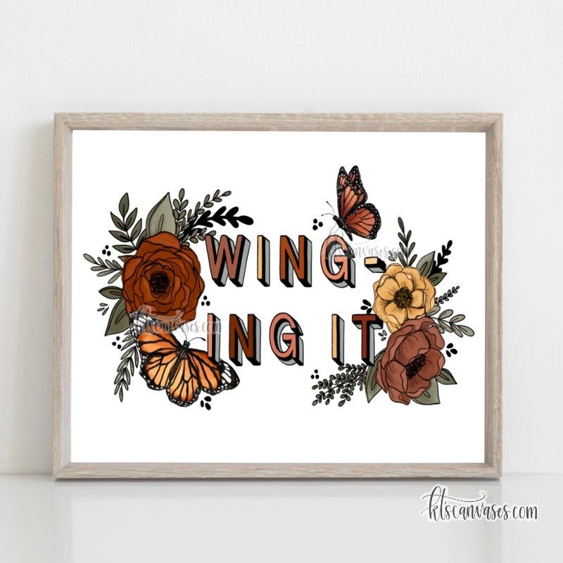 Winging It Butterfly Art Print