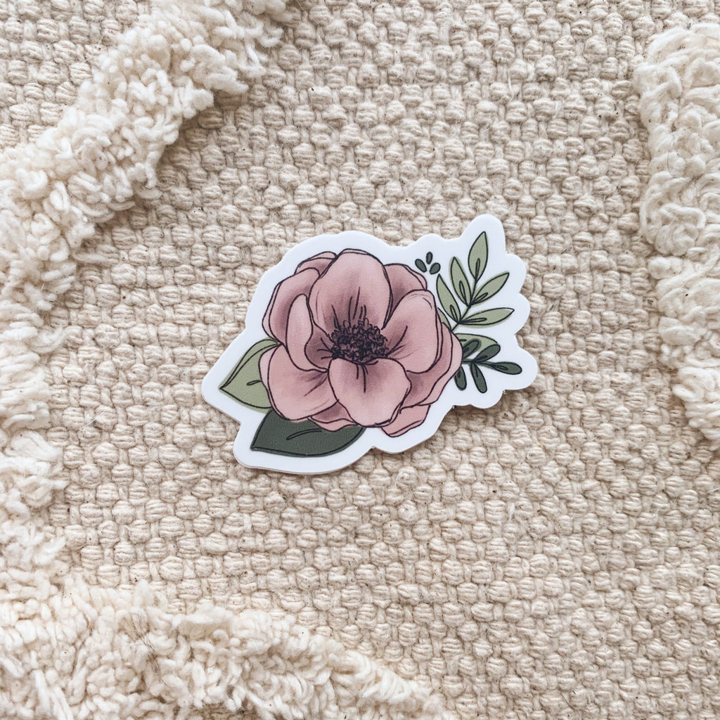Mini Pink Floral Sticker