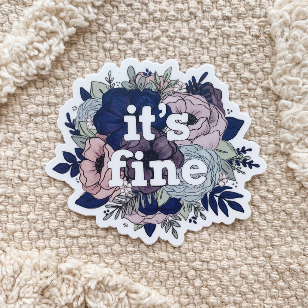 It's Fine Floral Sticker