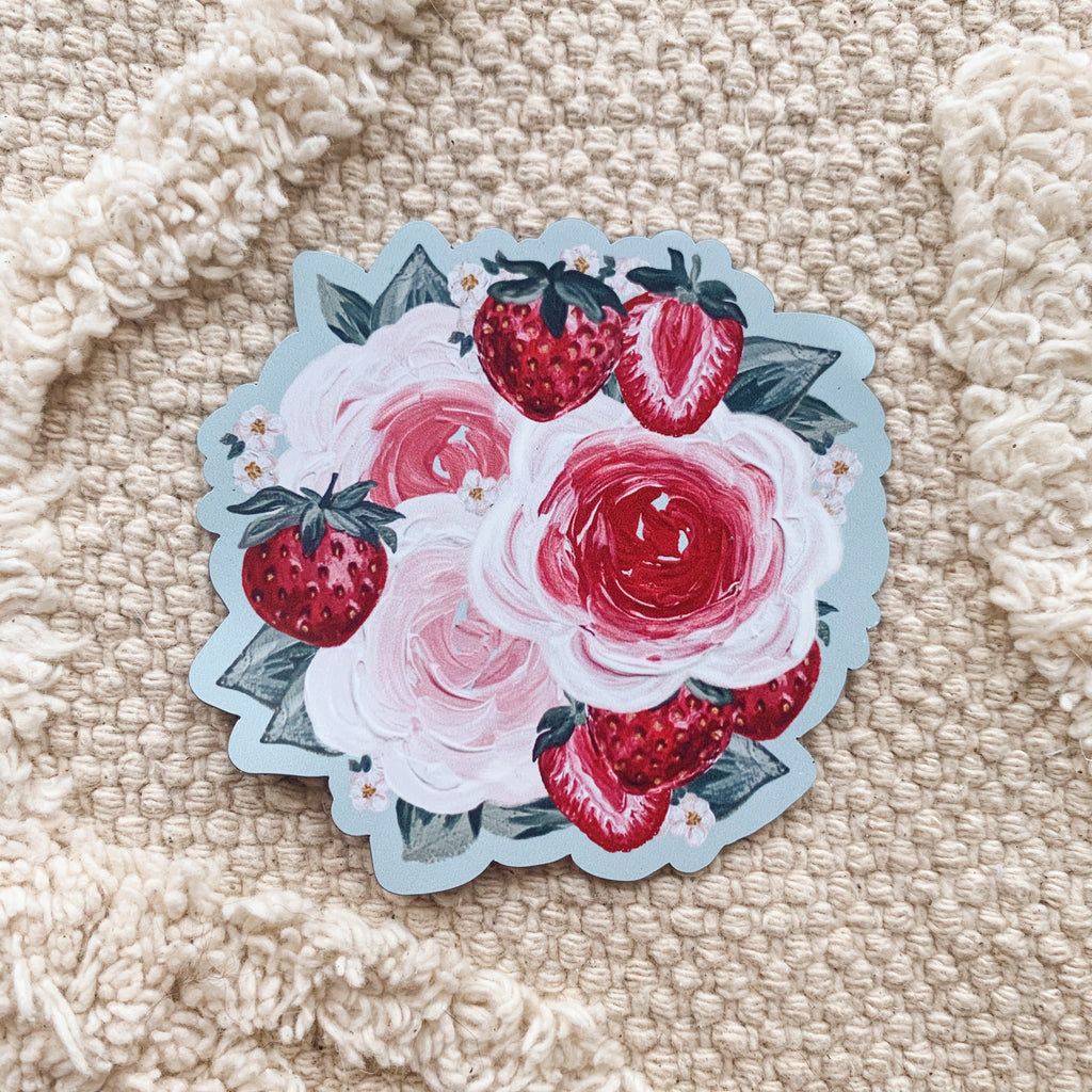 Strawberry Florals Magnet