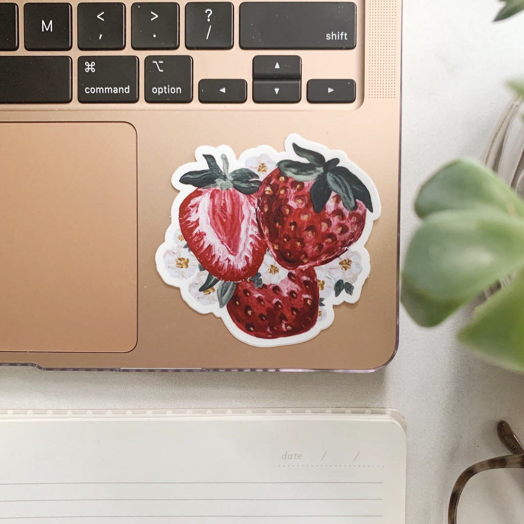 Painted Strawberry Sticker