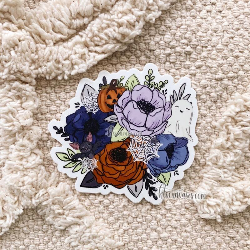 Spooky Florals Sticker