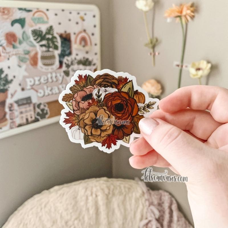 Fall Foliage Florals Sticker