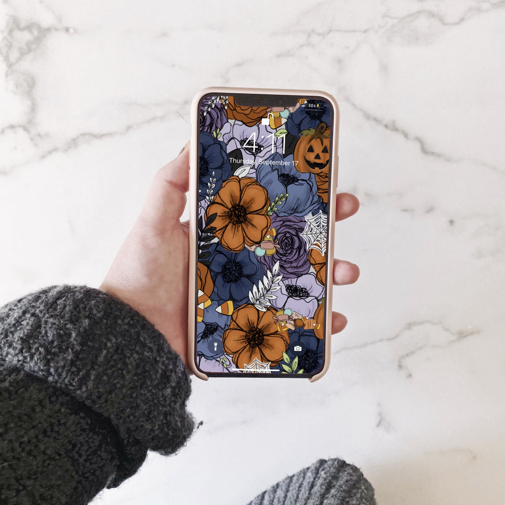 Spooky Florals Phone Wallpaper (Digital Download)