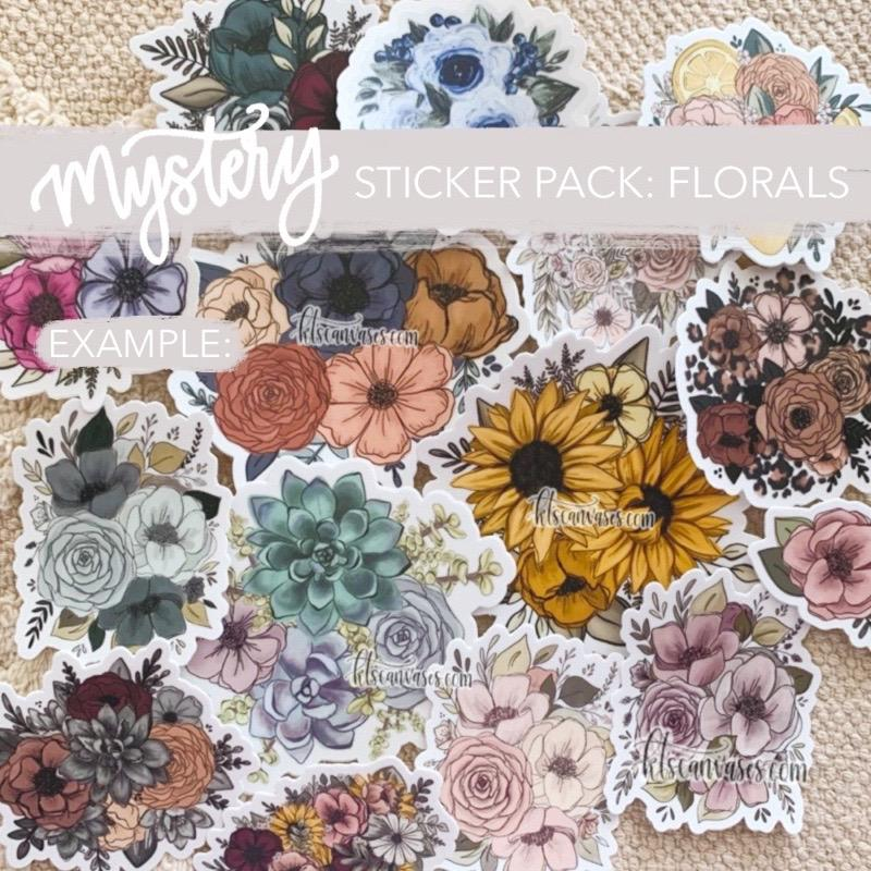 Mystery Sticker Pack: Flowers Only Stickers (30% off discount included)