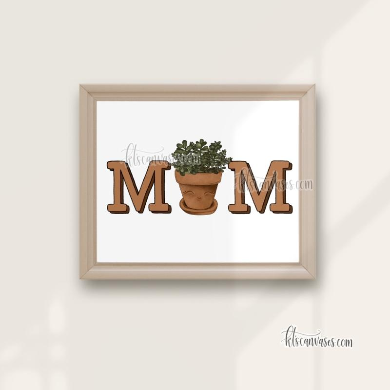 Plant Mom Art Print (Jade)