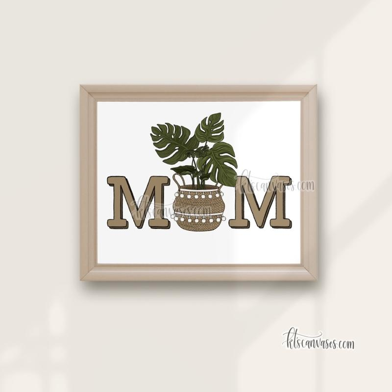 Plant Mom Art Print (Monstera)