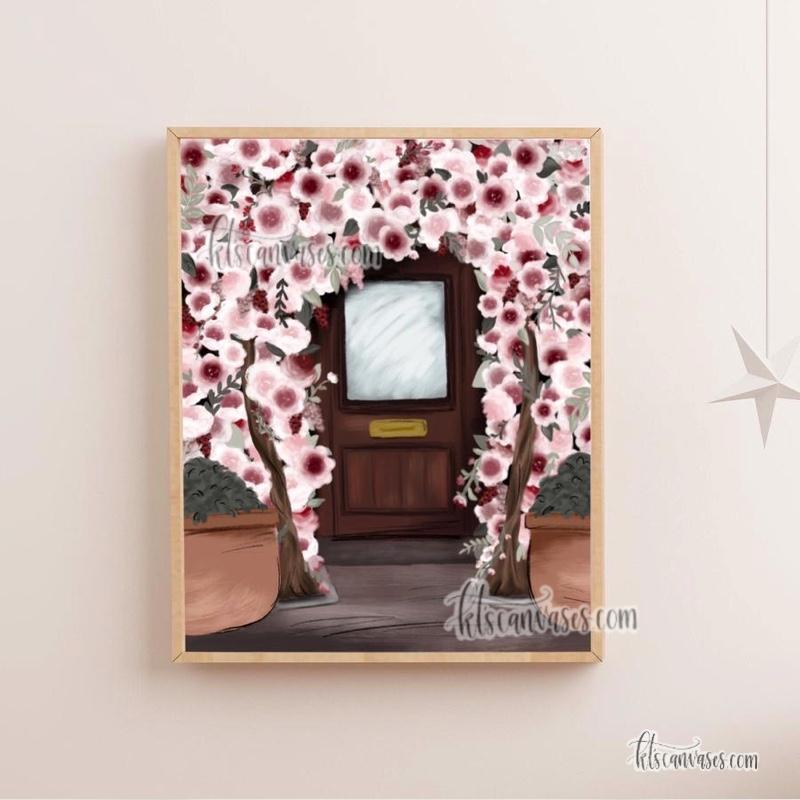 Floral Doorway Art Print