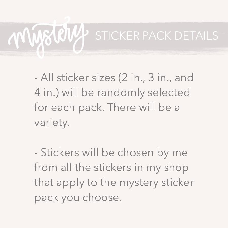 Mystery Sticker Pack: Word Stickers (30% off discount included)