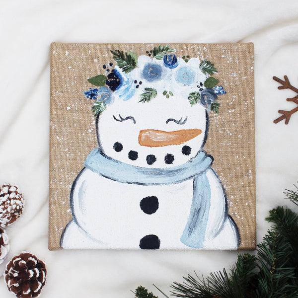 Canvas - Snowman Painting