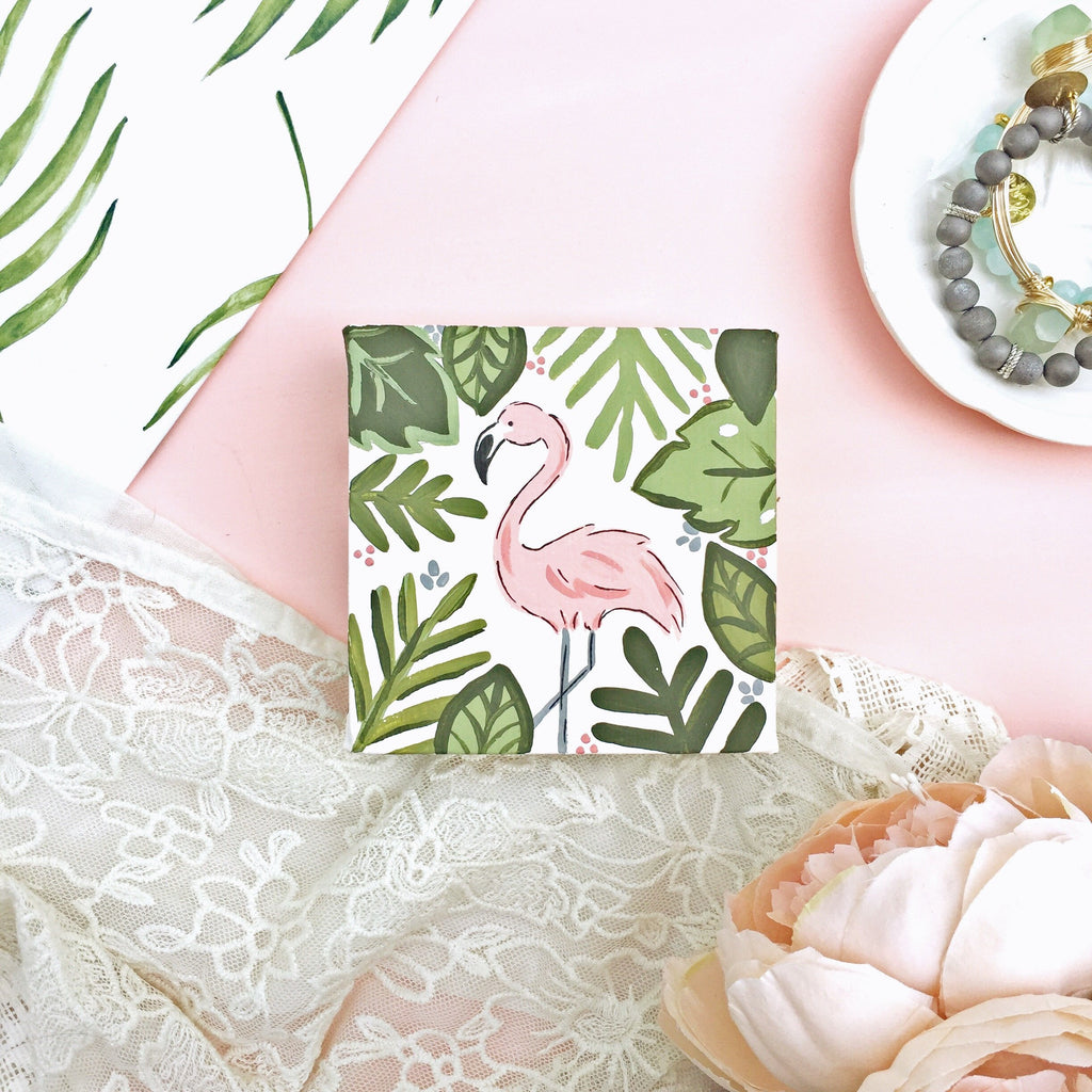 Canvas - Tropical Flamingo Canvas