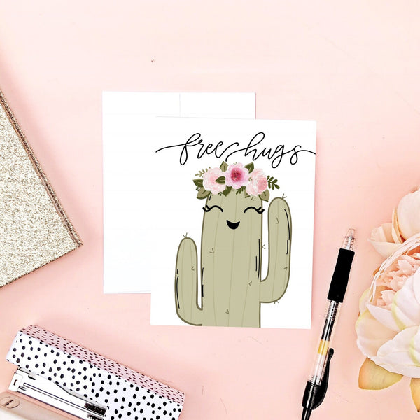 Card - Free Hugs Cactus Card