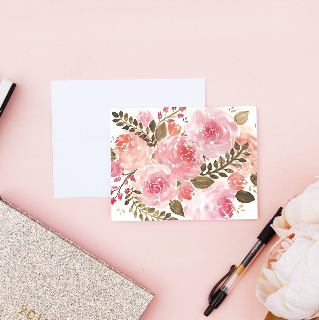 Card - Watercolor Floral Card