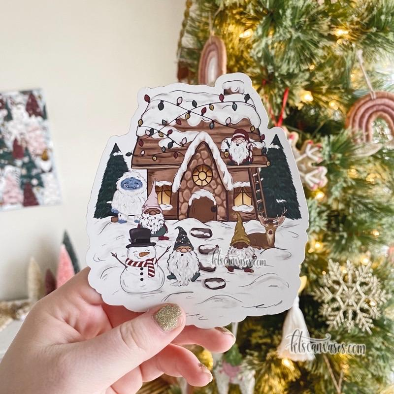 Christmas Cottage MAGNET