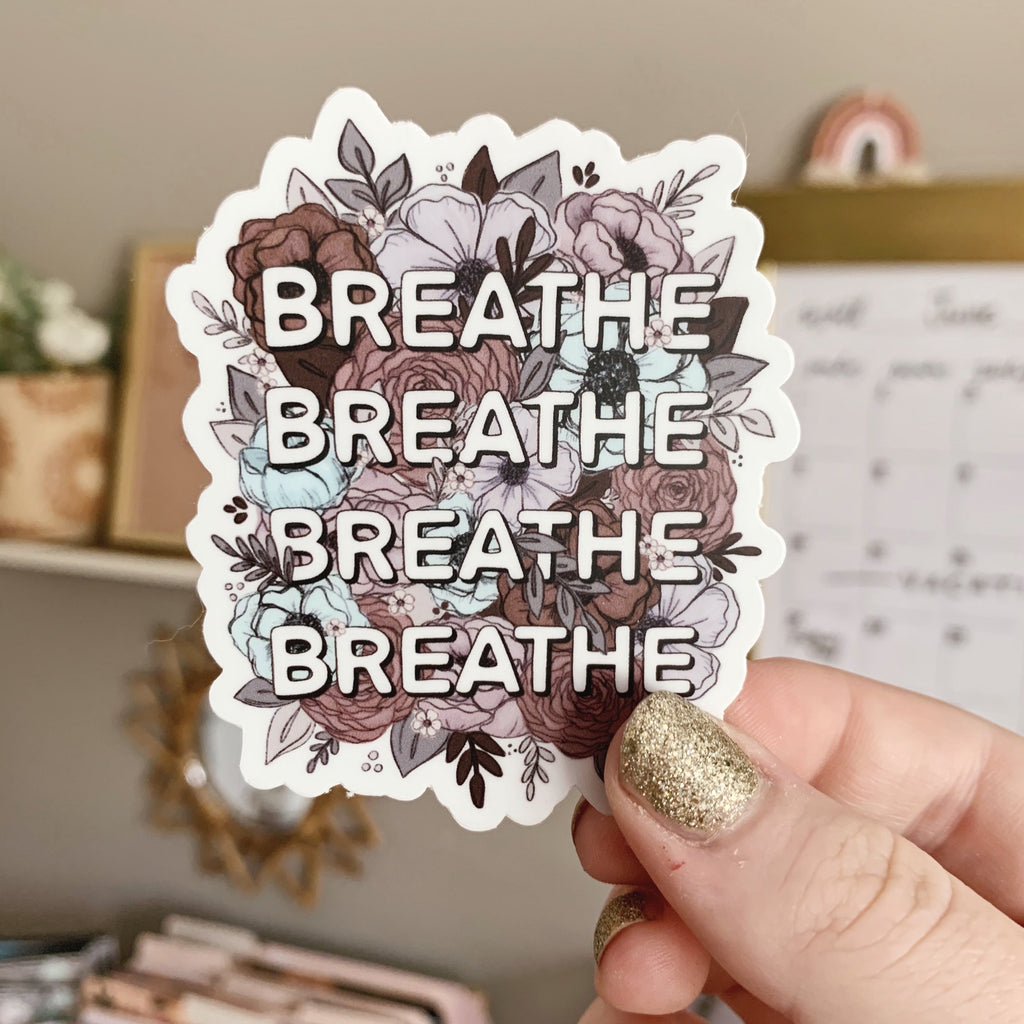 Floral Breathe Sticker