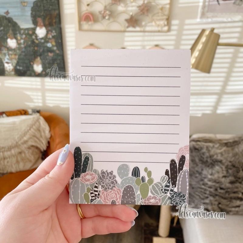 Cactus Floral Notepad 50 Sheets