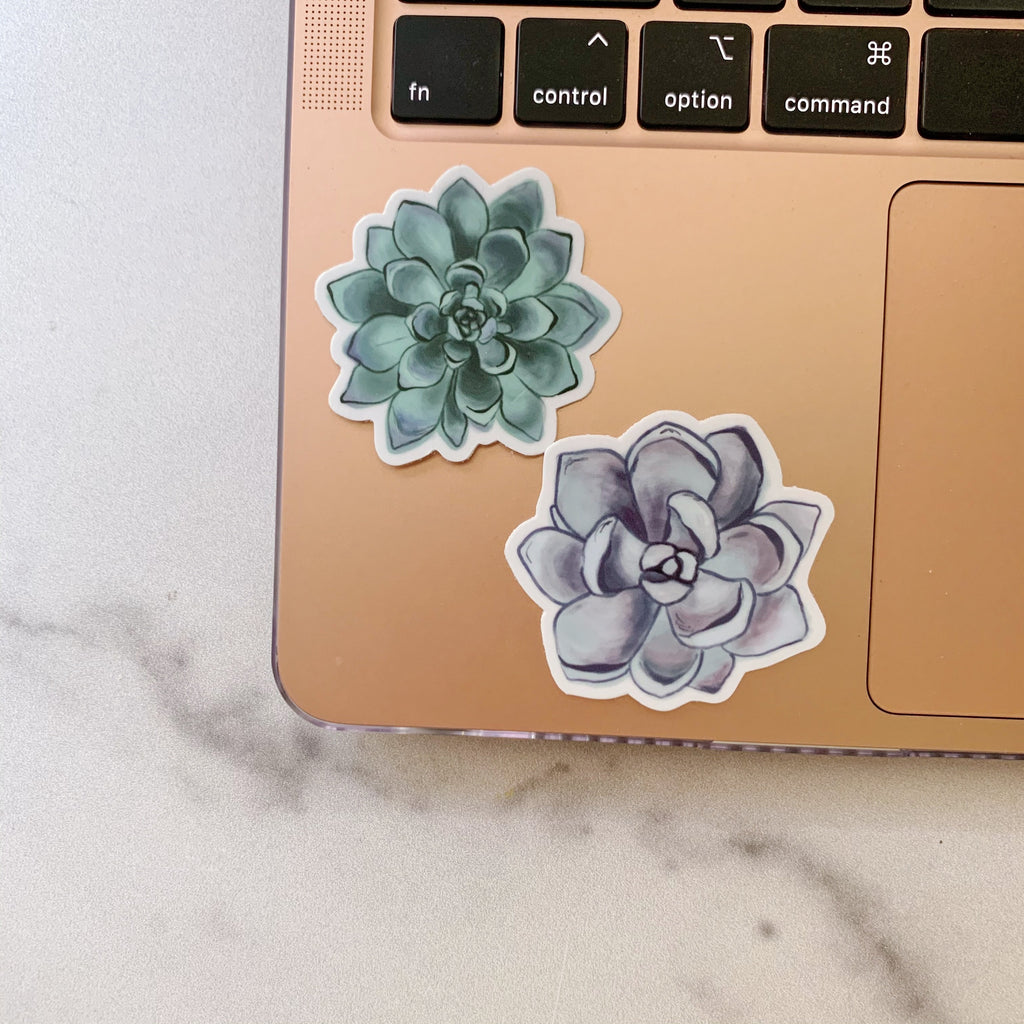 Mini Purple Succulent Sticker